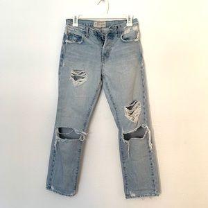 Current Elliott jeans. Boyfriend. Alta destroy